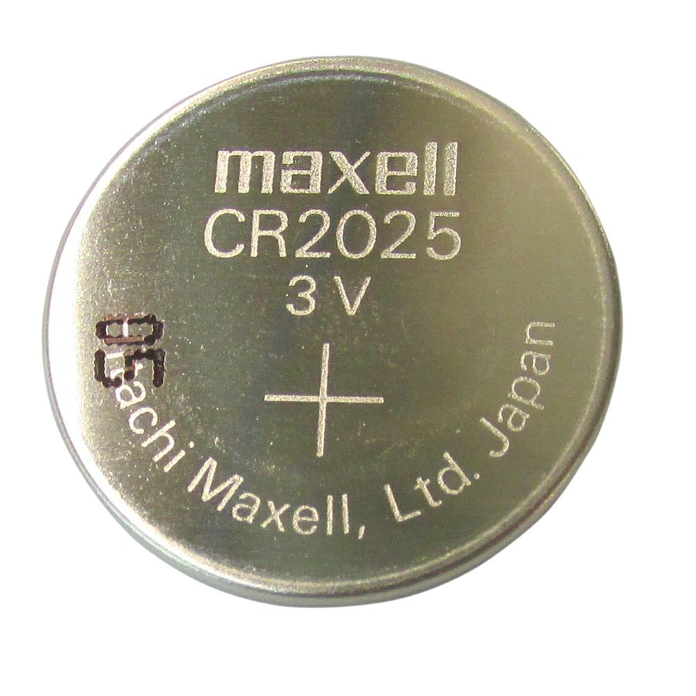 Maxell Cr2025 Button Cell Lithium Battery 3v Portable