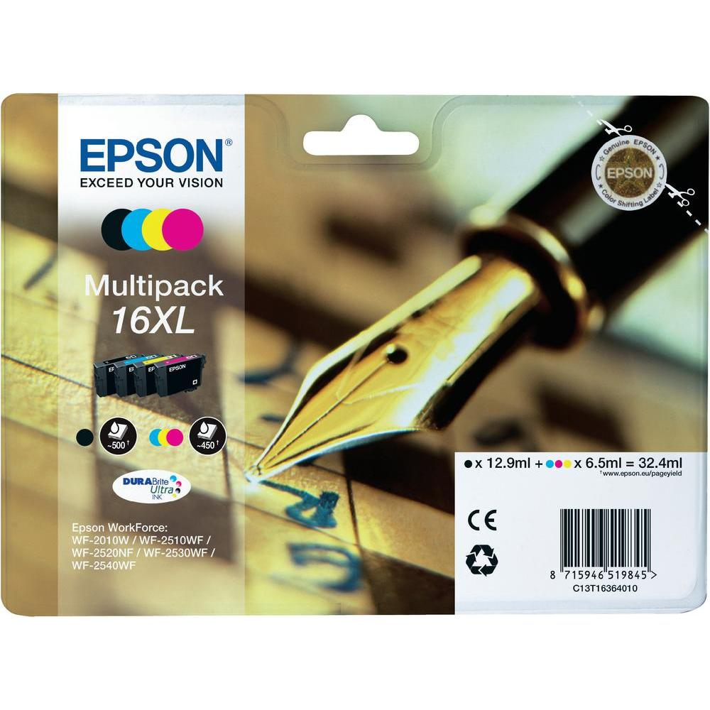 Epson C13t16364010 16xl Black Cyan Magenta Yellow Cartridge For Hp 678 Ink Catridge Cz107aa Original Inkjet Printer